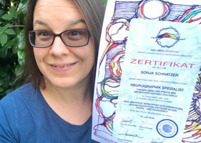 Stolz auf mein Neurographik-Zertifikat!