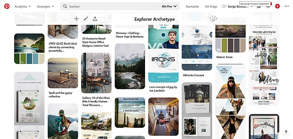 Explorer Archetype Pinterest Board