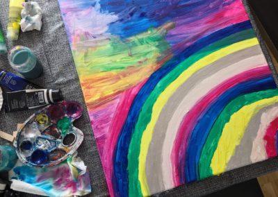 Kinderkunst steht bei uns oft am Programm