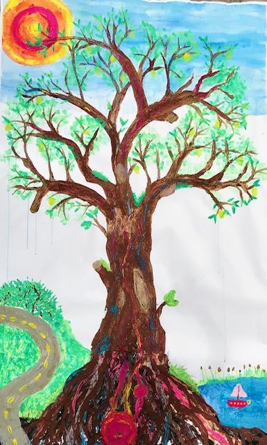 Baum Maltherapie