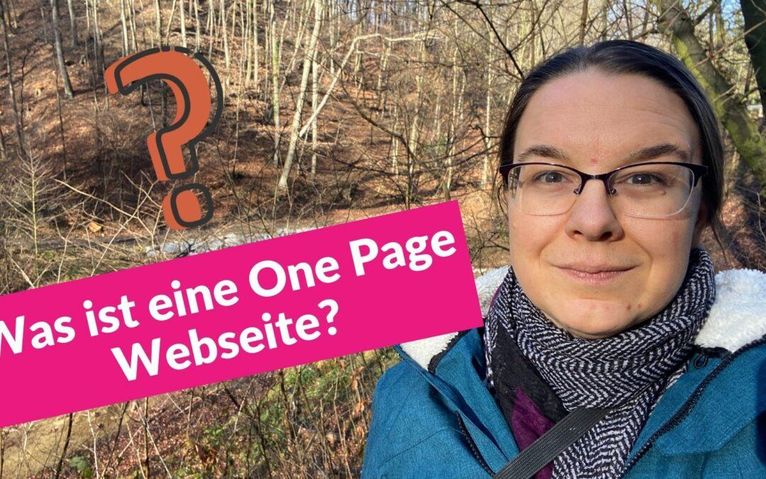 Was ist eine One Page Webseite?