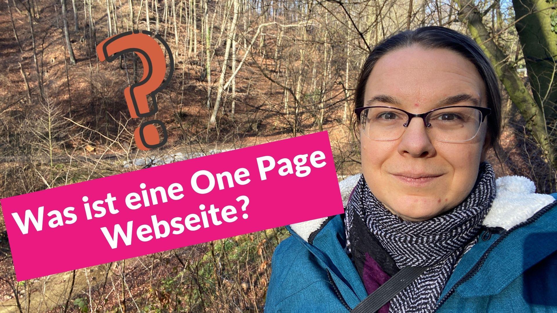 Was ist eine One Page Webseite
